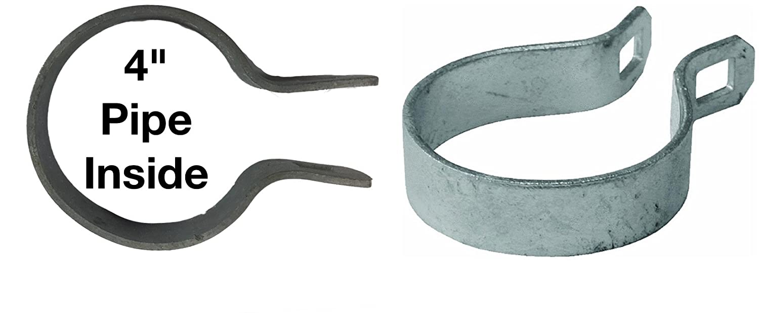 Use for 1-5//8 Outside Diameter Post//Pipe 1-5//8 Brace Band for Chain Link Fence Galvanized Chain Link Brace Band