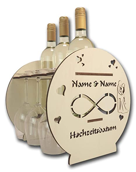 Schlummerlicht24 Licht Deko Weinflaschenhalter Holz Standregal Geschenke Personalisiert I Hochzeitsgeschenke Geschenkideen Zur Goldenen Hochzeit