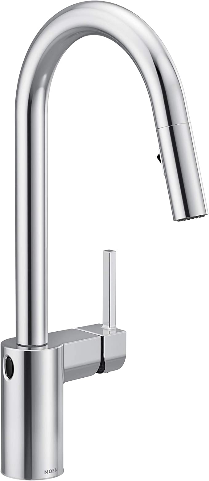 Moen 7565ewc Align Motionsense Wave Sensor Touchless One Handle High Arc Modern Pulldown Kitchen Faucet With Reflex Chrome Amazon Com
