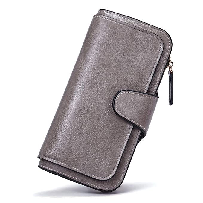 timeless design cf34d ea8f2 Wallet for Women Leather Designer Bifold Long Ladies Credit Card Holder  Organizer Ladies Clutch