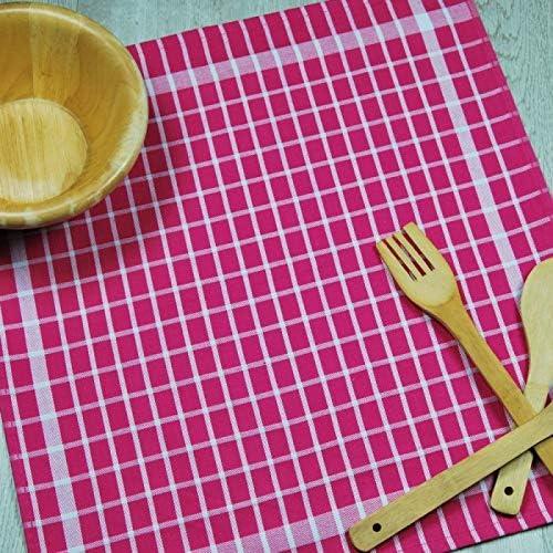 6 pa/ños Cocina algod/ón de Calidad 50x50 cm Incluyen 2 Ganchos Adhesivos