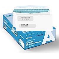 500#8 Double Window Gummed Security Envelopes - for Business Checks, QuickBooks & Quicken Checks, Size 3 5/8 x 8 11/16…
