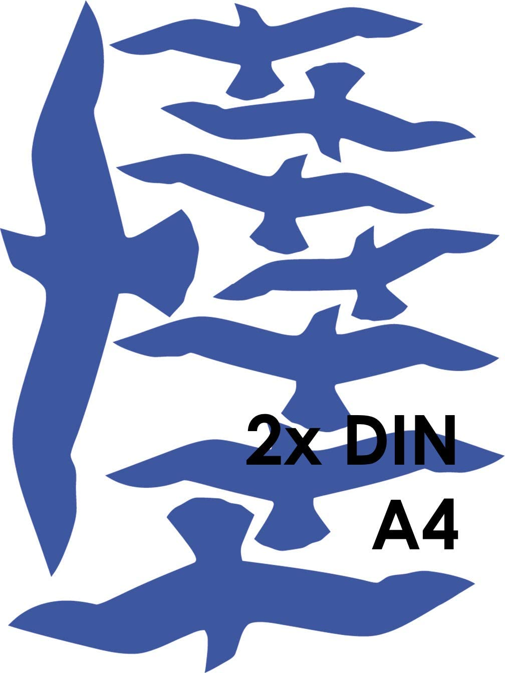 Blau MacDecal.de VOGELSCHUTZ 16 Greifv/ögel Aufkleber Sticker Scheibenschutz SCHLAGSCHUTZ Vogel Silhouette Wintergarten Glashaus