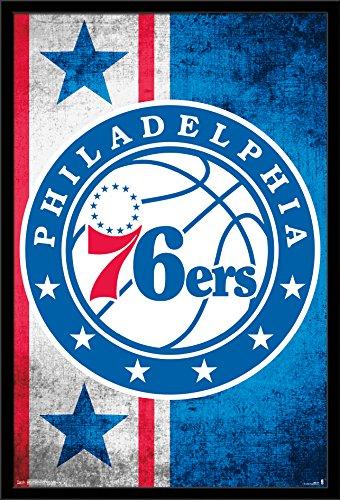 Trends International Wall Poster Philadelphia 76ers Logo, 22.375 x 34