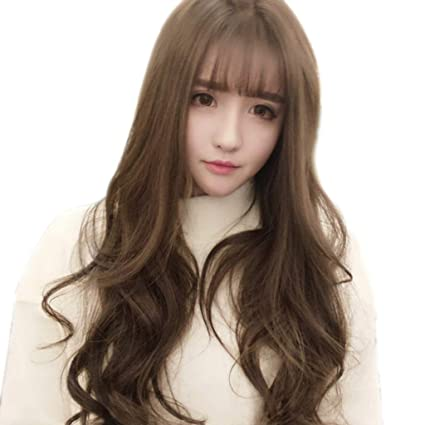 Amazon Com Wigs Long Curly Hair Teenage Cosplay Water