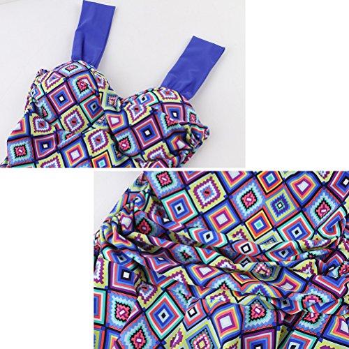 Laixing Colorful Women Traje de baño Shaping Body Beachwear Swim Dress with Shorts 6501# Orange