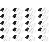 uxcell ハウジング 圧着端子コネクター 2.54mm 5P プラスチック SM オス メス 20ペア