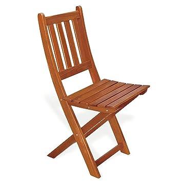 Chaise pliante en bois de keruing Jasmin ameublement jardin ...