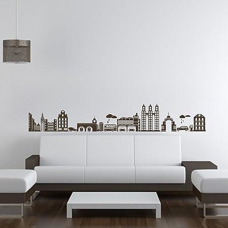 Amazoncom Modern City Wall Decal City Wall Sticker Vinyl City - Wall decals city