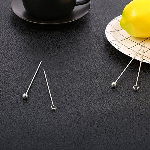 Frienda 20 Pieces Stainless Steel Cocktail Picks Fruit Sticks 4.3 Inch, 2 Styles by Frienda (Image #5)