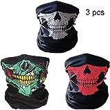 CAF Mart Seamless Skull Elasticity Motorcycle Face Tube Mask Riding Headwear Headband Bandana