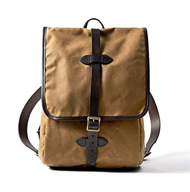 Amazon.com   Filson Tin Cloth Backpack, Dark Tan, One Size   Casual ... feed4d0a78