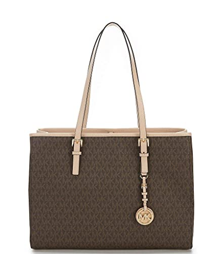 e6a6e664477d MICHAEL KORS Jet Set Travel EW Large Signature Tote (Brown)  Handbags   Amazon.com