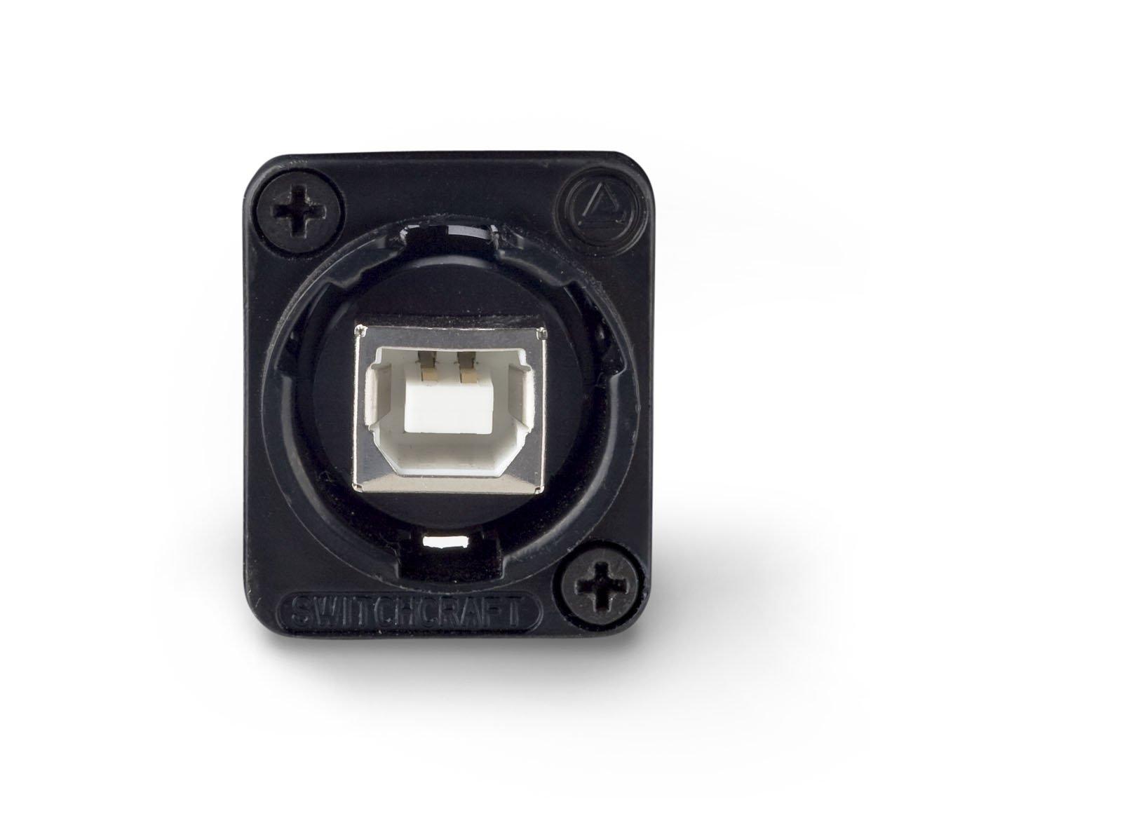 Switchcraft EHUSBBABX USB-B to USB-A Feedthru Panel Mount Jack, Black Finish by Switchcraft