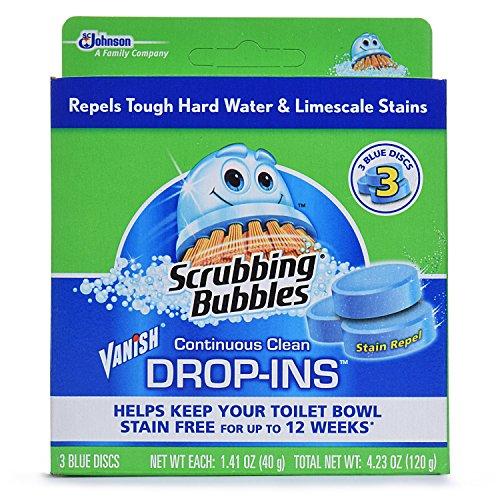 Scrubbing Bubbles Automatic Cleaner (Scrubbing Bubbles Continuous Clean Drop-Ins, Blue Disc, 3 ct)