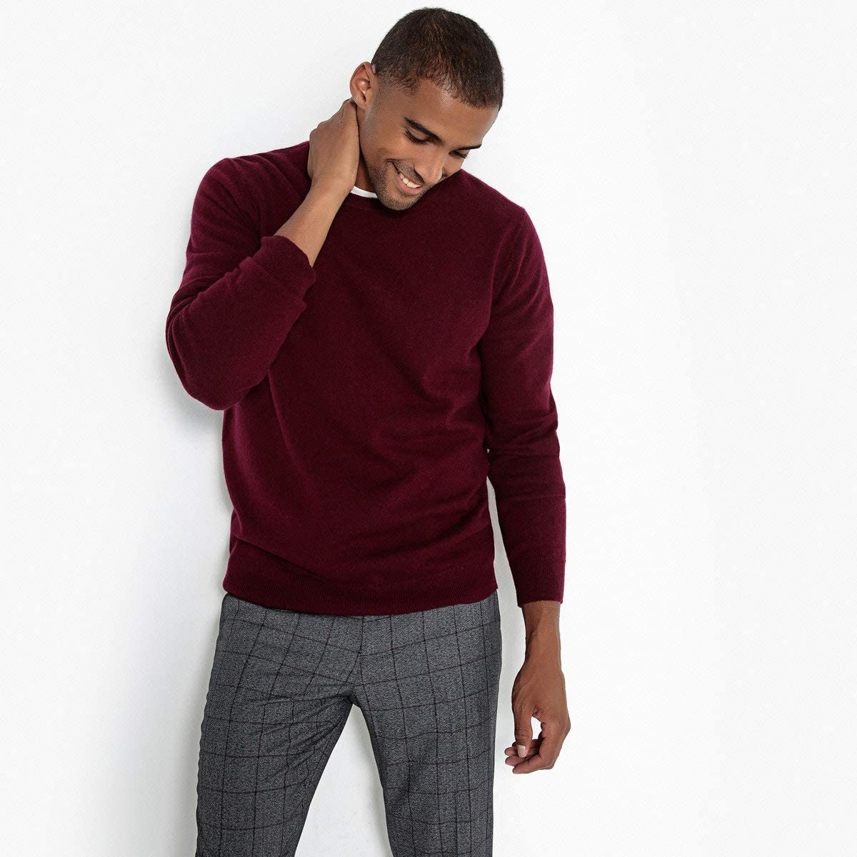 La Redoute Collection Mens Crew Neck Cashmere Jumper//Sweater