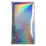 Holographic Big Size Server Book for Waitress 5'' X 9'' (Glitter Silver)