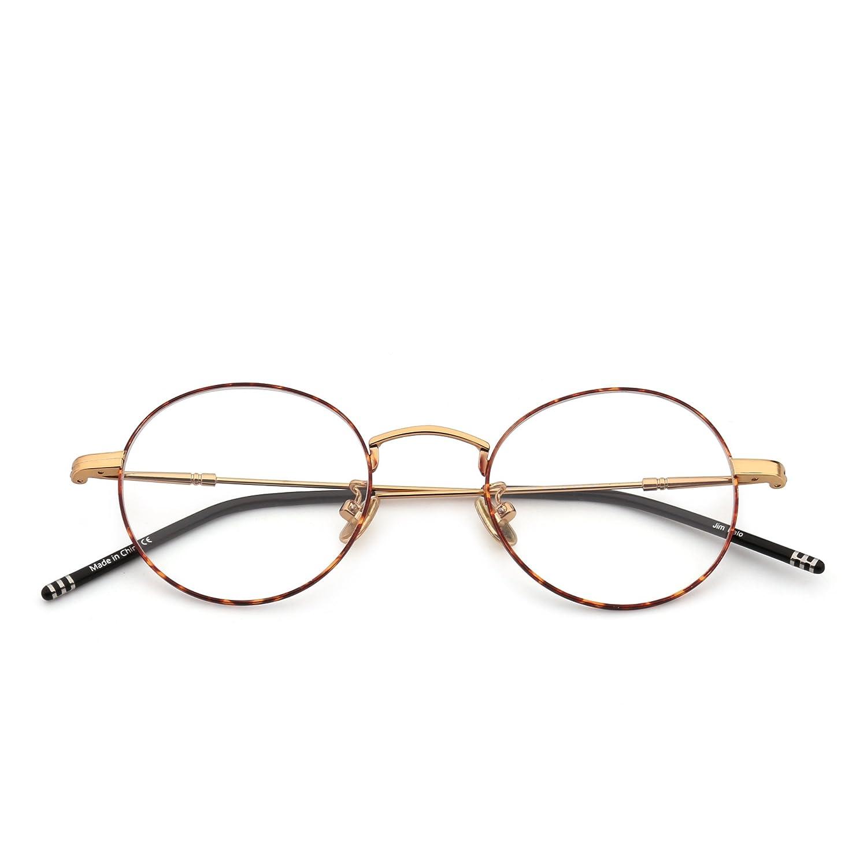Jim Halo Gafas Redondas de Cable Montura Marco Círculo Lente Claro ...