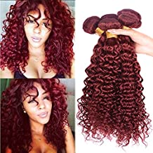 Black Rose Hair 8A Grade Brazilian Curly Wave Virgin Hair 3 Bundles 14 16 18inch Remy Human Hair extension Sexy Curly Weaves Color 33# Factory Price (95-100g/piece)