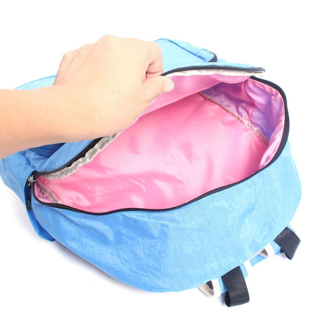 Amazon.com : DealMux Lonas Zipper Encerramento Casual Viagem Backpack Estudante Bookbag Azul : Sports & Outdoors