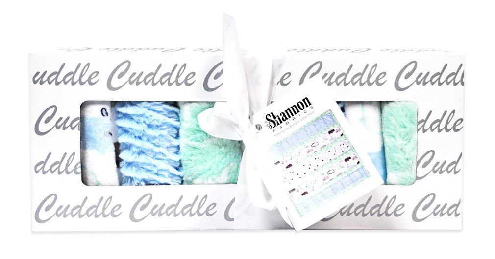 Minky Wee Ones Handsome Hippo Cuddle Kit Quilt Kit Shannon Fabrics CKWEEONES HANDSOME HIPPO