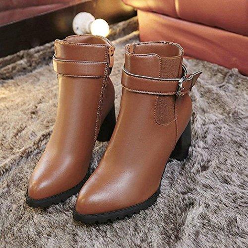 d35690c82a5a22 ... TPulling Herbst Und Winter Frühling Modelle Schuhe Mode Damen  Hochhackigen Casual PU Leder Reißverschluss Martin Stiefel
