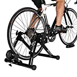 DEUTER New Arrival Indoor Bike Trainer Portable Exercise Bicycle Magnetic Stand with Noise Reduction Wheel (black)