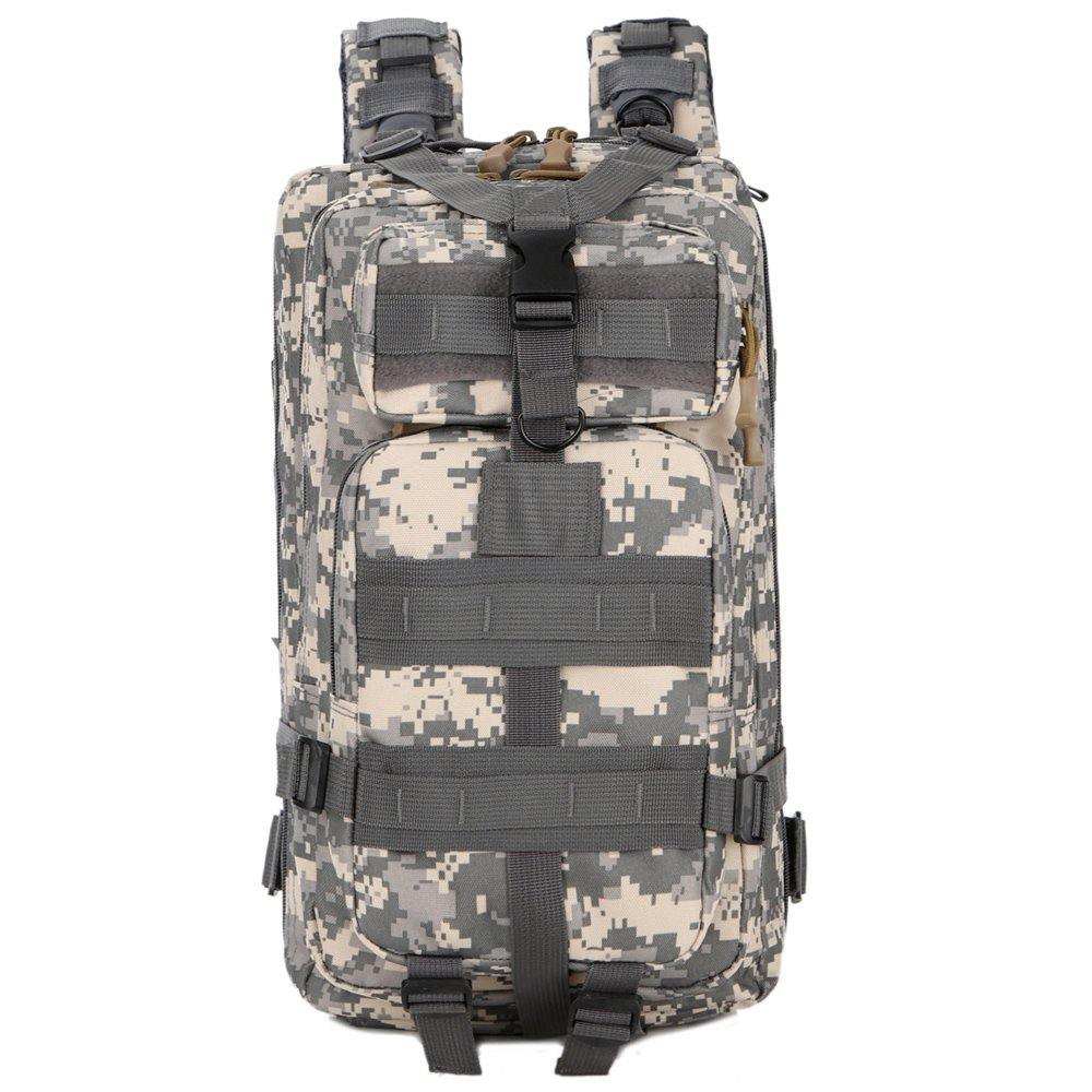 調節可能なタクティカルバックパックハイキングキャンプArmy MilitaryサバイバルバックパックリュックサックAssault Pack B078TBZ2ZC  ACU 迷彩