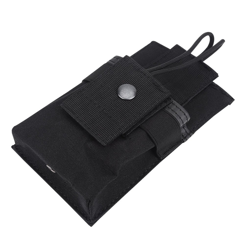 Alomejor 1Pc Walkie Talkie Bag Pouch Portable Radio Holder Case Multi-Function Pouch Case Holder for GPS Phone Two Way Radio Walkie Talkie