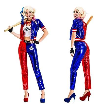 JiangJie Kawaii Disfraz de Harley Quinn Cosplay Carnival ...