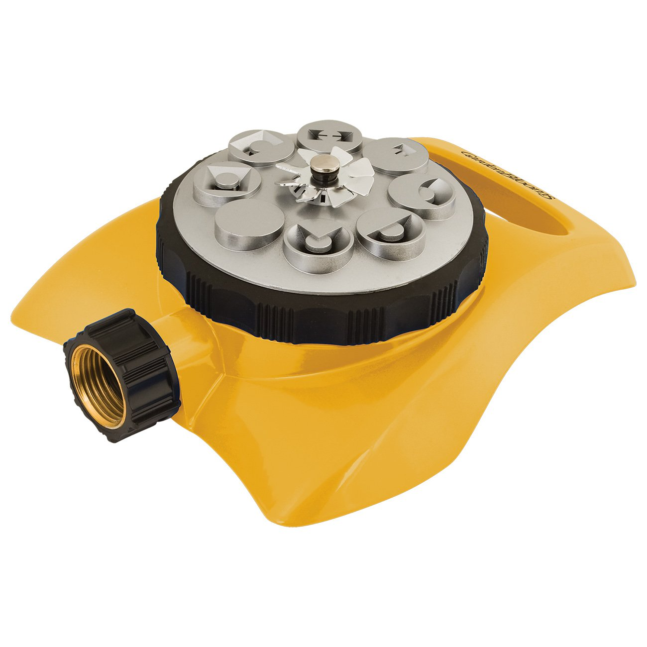 8 Pattern Metal Turret Sprinkler, Yellow