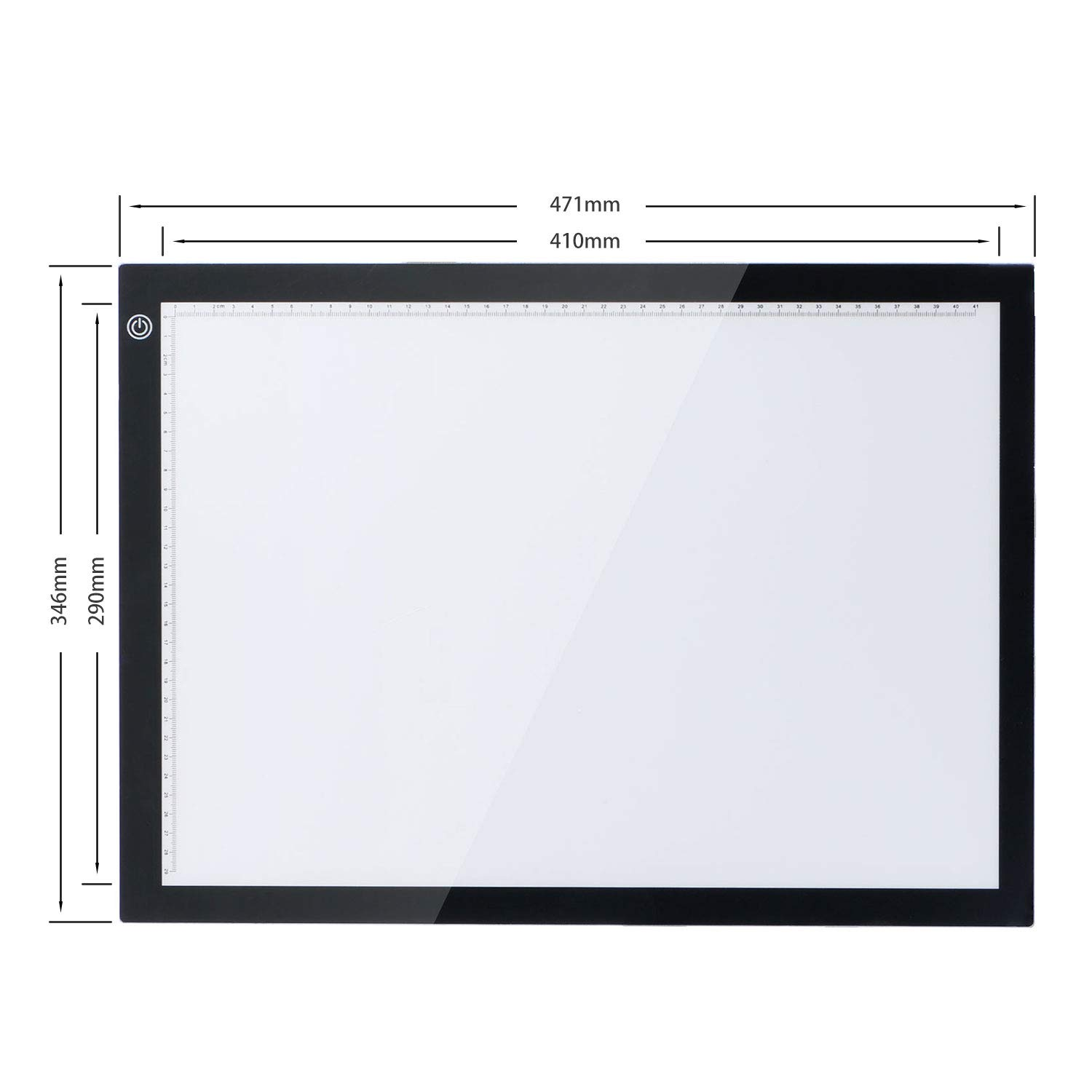 Joyfay A3 Tracing Light Pad Box Ultra-Thin Portable LED Light Box Tracer Tracing Copy Board w//Pad Stand USB Power Cable w//Adapter Dimmable Brightness LED Artcraft for Drawing Sketching X-ray Viewing