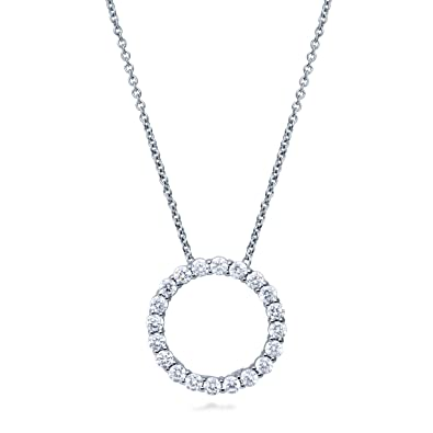 Image result for circle cz necklace