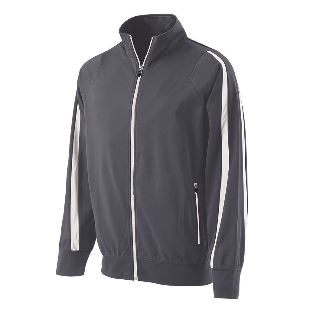 Holloway Youth Determination Jacket (Small, Graphite/White) by Holloway