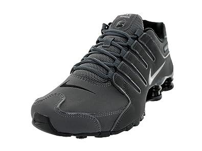 the best attitude 528e2 8f4f5 Nike Mens Shox NZ Dark Grey Leather Trainers 40.5 EU