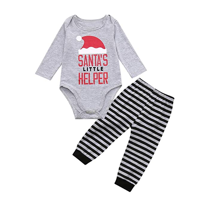 Conjuntos de Disfraz Navidad para Bebe Niñas 3 Meses - 24 Meses Invierno 2018 PAOLIAN Pijamas Monos y Pantalones Ropa para Bebe Niños Traje Navidad Papa ...