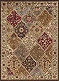 Universal Rugs 105120 Multi 8×10 Area Rug, 7-Feet 6-Inch by 9-Feet 10-Inch Picture