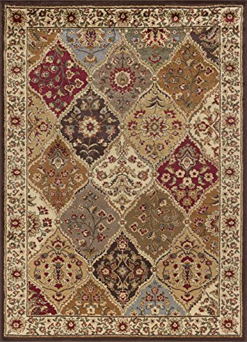 Tayse Elegance Area Rug 5120 Traditional Multi Panel Flower