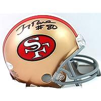 $155 » Jerry Rice Autographed San Francisco 49ers 64-95 TB Mini Helmet - Beckett W Auth Black