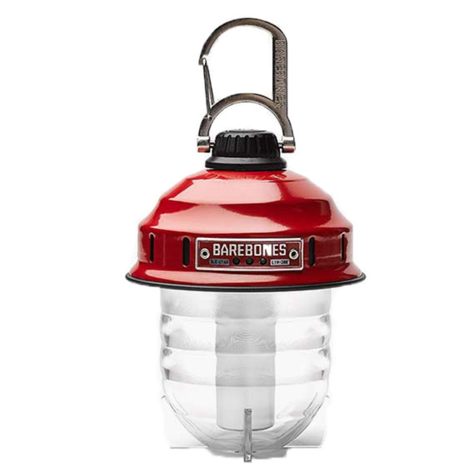 Beacon by Barebones Living   Red Rechargeable Outdoor Lantern
