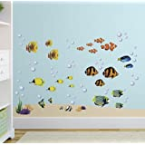 Under the Sea Tropical Fish Nursery/Kids Room Wall Art Sticker Decals