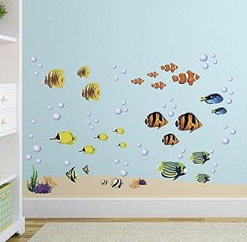 Under The Sea Tropical Fish Nursery/Kids Room Wall Art Sticker Decals