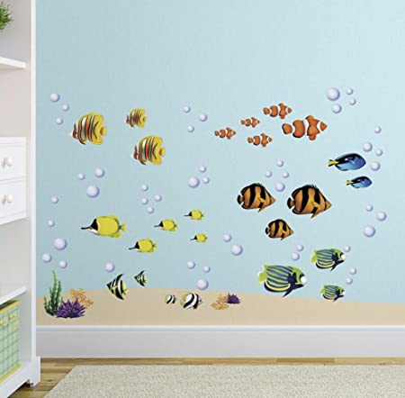 Under the Sea Tropical Fish Nursery/Kids Room Wall Art Sticker ...