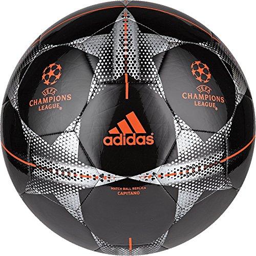 adidas Performance Finale 15 Capitano Soccer Ball, Black/Silver, 3 ()