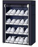 PAffy Shoe 4-5 layer Cloth Cabinet, Shoe Rack Organiser, Colour - Random