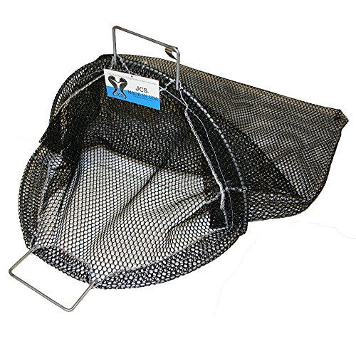 (JCS Galvanized Wire Handle Abalone Catch Bag, 24inch x 24inch, Black)