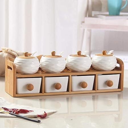 Meilandeng Botes para Especias Condimento de cerámica Ollas ...
