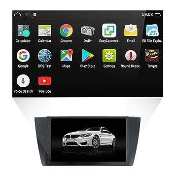 YUNTX Car Stereo,Audio con GPS Sistema de Navegación para BMW E90, Radio Coche