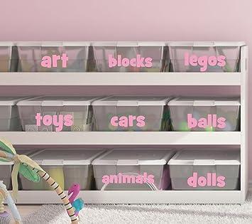 Playroom Toy Bin Decals   Playroom Decals  Bin Labels   Organization   Toy  Bin Labels
