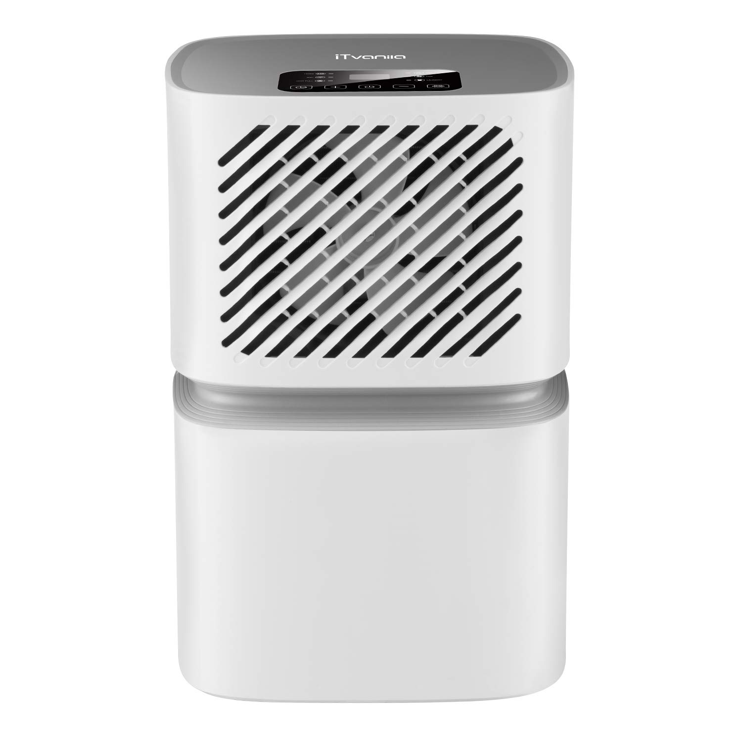Dehumidifier,12L/day Dehumidifier for Home, WI-FI WLAN technology, LED control panel, dehumidifiers for condensation, moisture and mold with continuous dehumidification, Smart Auto function, fan and laundry drying, tank full modes (White) iTvanila